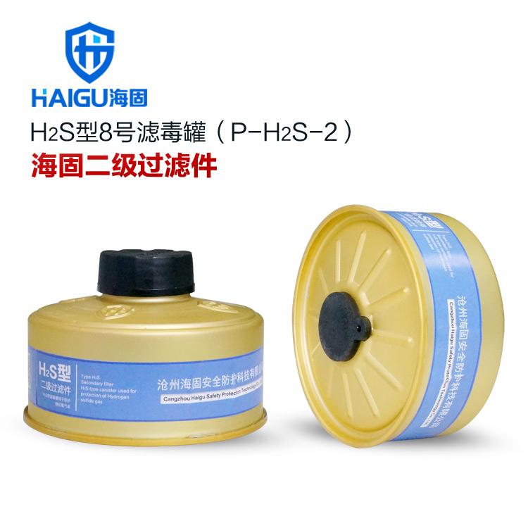 H2S型8号滤毒罐 硫化氢滤毒罐 防毒口罩滤毒件