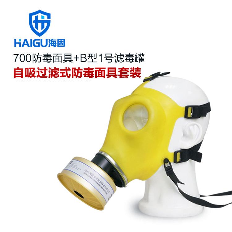 海固700防毒口罩+B型1号滤毒罐-综合防护防毒口罩