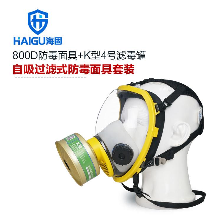 氨气防毒面具 HG-800D球形多功能大视野全面罩+K型