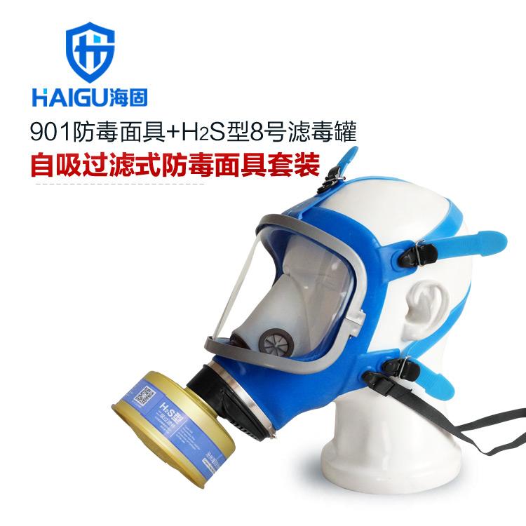 硫化氢防毒面具-海固901防毒面具大视窗全面罩