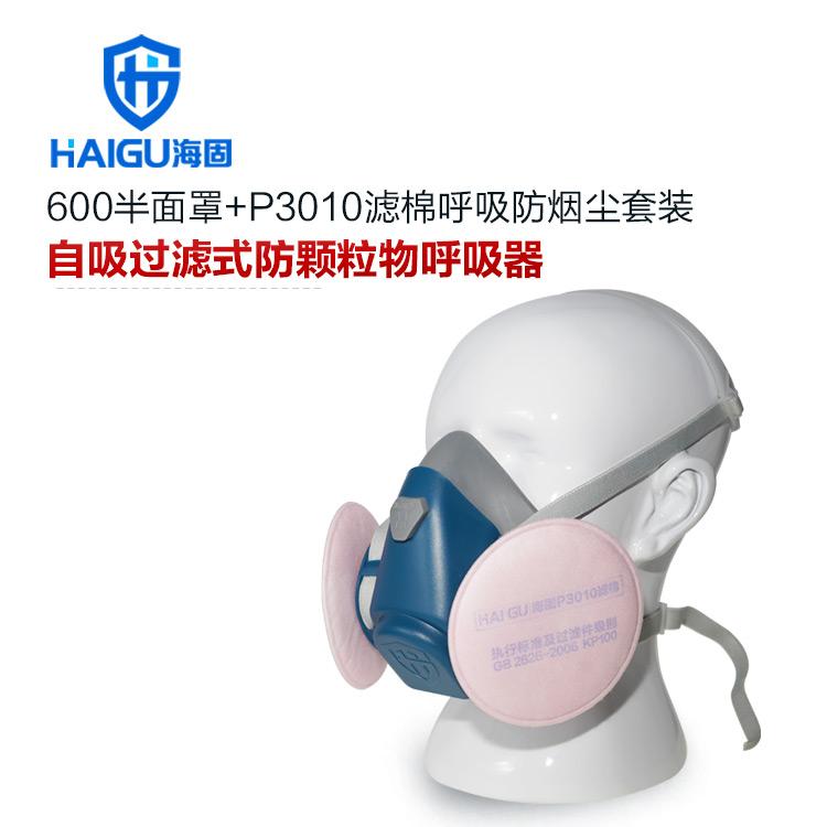 海固HG600半面罩防毒面具+KP100/KP95/KP90油性非油性